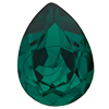 SWAROVSKI 4320 Pear Rhinestones 18x13 Emerald